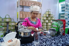 Shenzhen, China: tasting tea drinks Royalty Free Stock Image