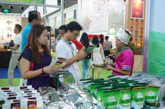 Shenzhen, China: tasting tea drinks Stock Image