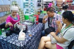 Shenzhen, China: tasting tea drinks Stock Photo