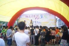 Shenzhen, China: Telecom mobile phone sales promotion activity Stock Photography