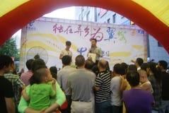 Shenzhen, China: Telecom mobile phone sales promotion activity Stock Photo
