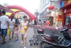 Shenzhen, China: Telecom mobile phone sales promotion activity Stock Image