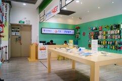 Shenzhen, China: Telecom mobile phone store Royalty Free Stock Photo