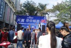 Shenzhen, china: telecommunication product promotion Stock Image