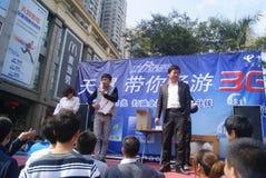 Shenzhen, china: telecommunication product promotion Royalty Free Stock Photos