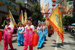 Shenzhen, China: Temple celebration parade. Shenzhen Baoan Xixiang, the temple celebration parade. Xixiang Pak Tai Temple, has a history of over 400 years, the stock photography
