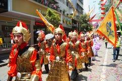 Shenzhen, China: Temple celebration parade Royalty Free Stock Photo