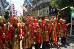 Shenzhen, China: Temple celebration parade Stock Photo