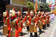 Shenzhen, China: Temple celebration parade Stock Images