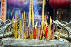Shenzhen, china: in the temple to burn incense Stock Photo