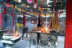 Shenzhen, china: in the temple to burn incense Stock Image