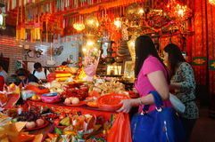 Shenzhen, China: temple to burn incense to worship Royalty Free Stock Image