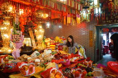 Shenzhen, China: temple to burn incense to worship Royalty Free Stock Photography