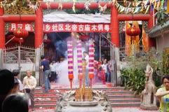 Shenzhen, China: temple to burn incense to worship Stock Photo