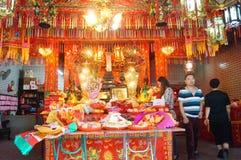 Shenzhen, China: temple to burn incense to worship Stock Photos