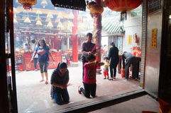 Shenzhen, China: temple to burn incense to worship Royalty Free Stock Images