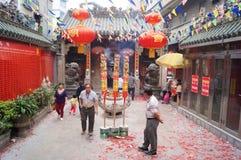 Shenzhen, China: temple to burn incense to worship Stock Image