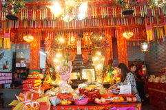 Shenzhen, China: temple to burn incense to worship Stock Images