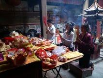 Shenzhen, China: temple to burn incense to worship Royalty Free Stock Photos