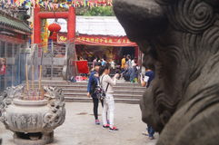 Shenzhen, China: temple to burn incense Royalty Free Stock Images