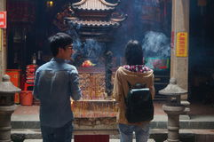 Shenzhen, China: temple to burn incense Royalty Free Stock Image