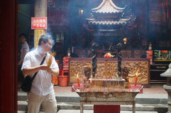 Shenzhen, China: temple to burn incense Stock Images