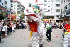Shenzhen china: temple worship activities. In March 19th, 2012, Shenzhen Xixiang pedestrian street, Pak Tai Temple worship activities. People took to the streets Royalty Free Stock Photography