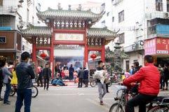 Shenzhen, China: temple worship Buddha Stock Images