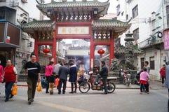 Shenzhen, China: temple worship Buddha Stock Image