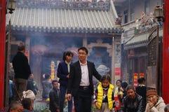 Shenzhen, China: temple worship Buddha Royalty Free Stock Images