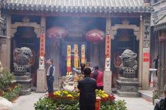 Shenzhen, China: temple worship Buddha Royalty Free Stock Photography