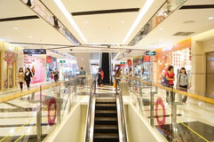 Shenzhen, China: Tianhong shopping mall interior landscape. Shenzhen Baoan Xixiang Tianhong shopping mall, the interior landscape Stock Photos