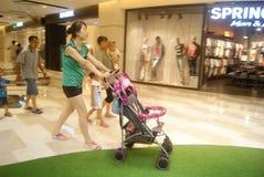 Shenzhen, China: Tianhong shopping plaza Royalty Free Stock Image