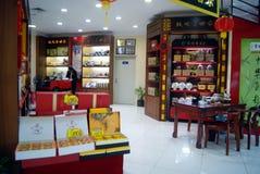 Shenzhen, China: tienda del té fotografía de archivo