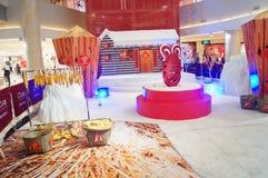 Shenzhen, China: tijdens de de winkelcomplexxendecoratie van het de Lentefestival Stock Fotografie