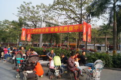 Shenzhen, China: to carry out fire prevention activities Royalty Free Stock Photo