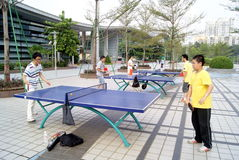 Shenzhen china: to play table tennis Stock Image
