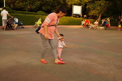 Shenzhen, China: together with the children to leisure and entertainment Stock Image
