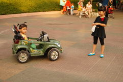 Shenzhen, China: together with the children to leisure and entertainment Royalty Free Stock Photography