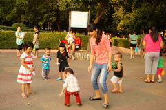 Shenzhen, China: together with the children to leisure and entertainment Stock Photo