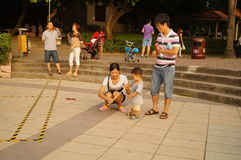 Shenzhen, China: together with the children to leisure and entertainment Stock Images