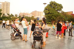 Shenzhen, China: together with the children to leisure and entertainment Royalty Free Stock Photo