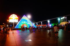 Shenzhen, China: tourist attractions in the night Stock Photos