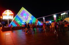Shenzhen, China: tourist attractions in the night Stock Photography