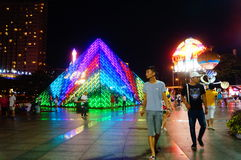 Shenzhen, China: tourist attractions in the night Royalty Free Stock Images