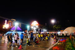 Shenzhen, China: tourist attractions in the night Royalty Free Stock Image