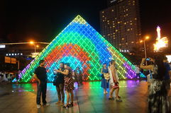 Shenzhen, China: tourist attractions in the night Royalty Free Stock Photo