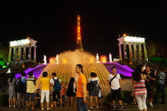 Shenzhen, China: tourist attractions in the night Royalty Free Stock Photos