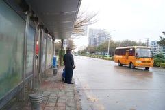 Shenzhen, China: tráfico de ciudad Foto de archivo libre de regalías