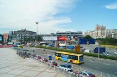 Shenzhen, China: Tráfico de las aduanas de Nantou Fotografía de archivo libre de regalías